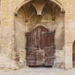 Old doors at Popes Palace in Avignon, France — Stock Photo