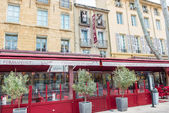 Hotel and restaurant in Aix-en, Provence, France. — Stock Photo