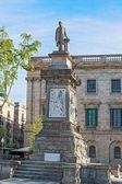 Antoni Lopez stone statue in Barcelona, Spain — Stock Photo