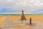 Beach entrance near Barcelona, Spain. — Stock Photo