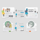 Website Design Collection elements with icons — Stock Vector