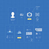 Infographics design UI Elements: Mobile Gui blueprints — Stock Photo