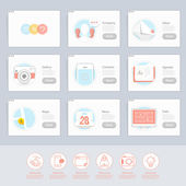 Responsive flat UI Icons elements for templates — Stock Vector