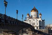 キリスト救世主大聖堂。モスクワ。ロシア. — ストック写真