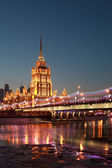Hotel Ukraine. Moscow River. Moscow. — Stock Photo