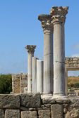 Marble columns of the ancient Greek city of Chersonese. — Stock Photo