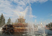 Fountain Stone flower. VDNH. Moscow — Stock Photo
