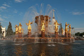 Fountain Friendship of Nations at VDNH in Moscow — Stock Photo