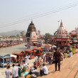 Bathing in the Ganges. The sacred city of Haridwar. North India. — Stock Photo #11445279