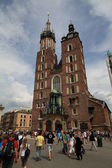 Church of the Assumption of the Blessed Virgin Mary - Mariacki Church — Stock Photo
