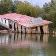 The flooded building — Stock Photo