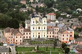 Former Jesuit Collegium in Kremenets Ternopil region, Ukraine. (View from from the Castle Hill). — Stock Photo
