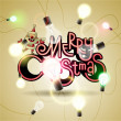 Royalty-Free Stock Vector Image: Christmas background with colorful garland. Vector illustration. Eps 10