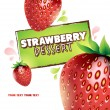 Strawberry background. Vector illustration for your design - Stock Vector