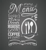 Illustration of a vintage graphic element for menu on blackboard — Vector de stock