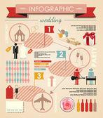 Wedding infographic — Stock Vector