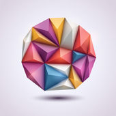 Abstrakt bakgrund i origami stil — Stockvektor