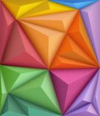 Abstrait dans un style origami — Vecteur
