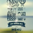 Menu poster. Vector background. — Vettoriali Stock