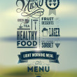 Menu poster. Vector background. — Vecteur