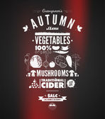 Illustration of a vintage graphic element for menu on blackboard — Vettoriale Stock