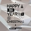 Merry Christmas & Happy New Year design.   — Imagens vectoriais em stock