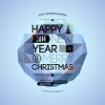 Merry Christmas & Happy New Year design. — Stock Vector