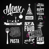 Christmas restaurant menu — Stock Vector