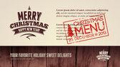 Restaurant weihnachtsmenü — Stockvektor
