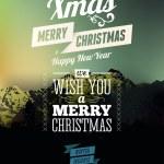 Merry Christmas & Happy New Year design — Stock Vector