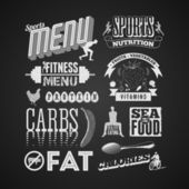 Fitness menu — Stock Vector