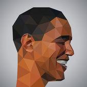 Barak Obama in origami style — Stock Vector
