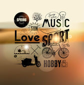 Spring typography background — Stock Vector