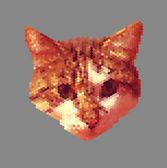 Digital Cat — Stok Vektör