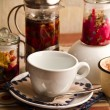 Teakettle of herbal tea — Stockfoto