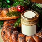 Traditional slavic russian christmas table — Stock Photo #37444593