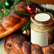 Traditional slavic russian christmas table — Stock Photo