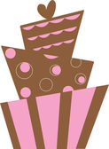 Clipart Illustration of a Funky Modern Cake Design — Stock Photo