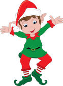 Clipart Illustration of a Christmas Elf — Stock Photo