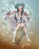 Winter Pixie — Stock Photo