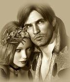 Hamlet and Ophelia — Stock Photo