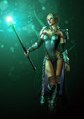 Warrior of Light — Stock Photo