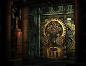 Steampunk engrenages — Photo
