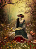 A Woman Reading a Book — Stock Photo