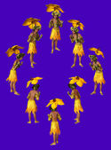 Yellow Parasol — Stock Photo