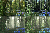 Deep Forest, 3d Computer Graphics — Stock Photo