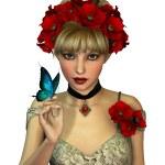 Постер, плакат: Red Poppies 3d CG