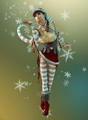Santas Little Helper Elsie, 3d CG — Stock Photo