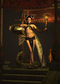 The Snake Priestess 3d CG — Stock Photo
