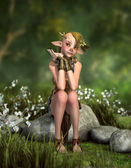 Little Forest Goblin 3d CG — Stock Photo